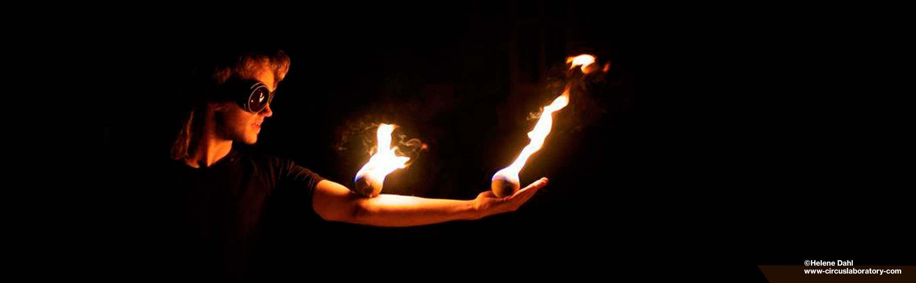 Fire Juggling Balls