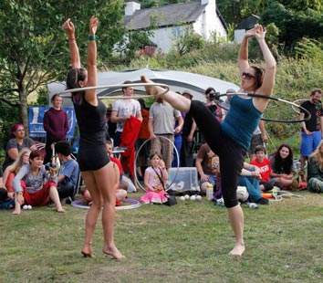 Hula Hoop gladiators. Copyright Chaka September